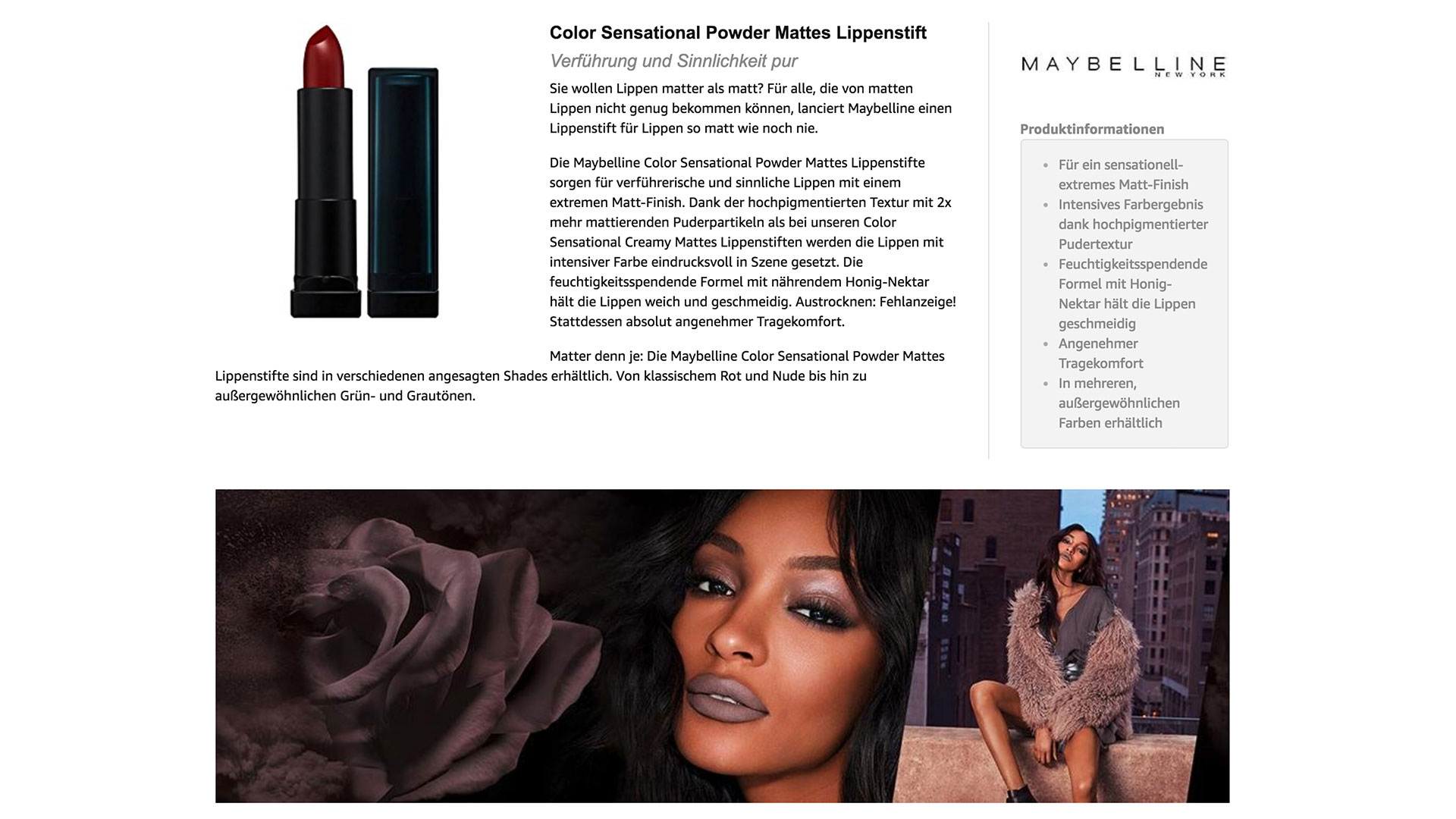 L'Oréal Retailer Product Content Amazon A+
