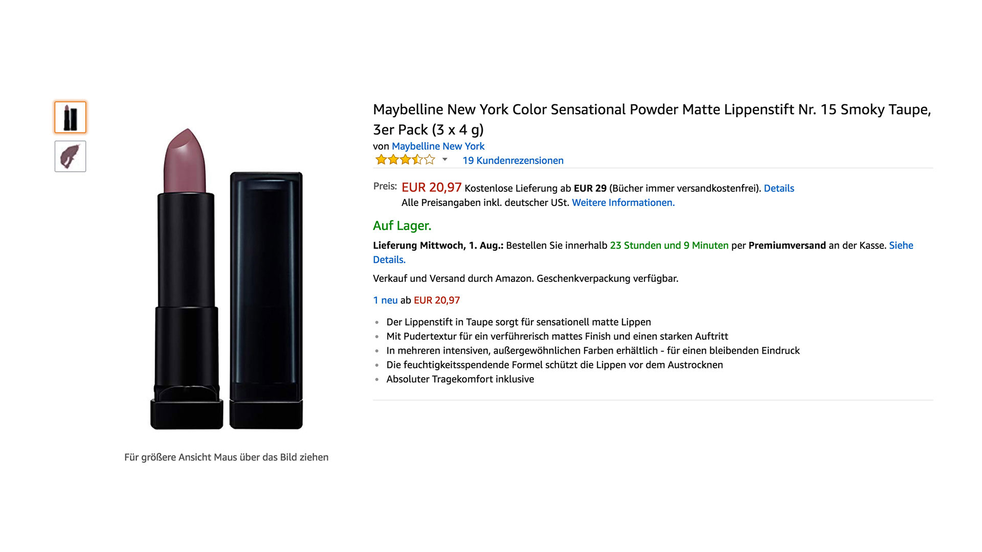 L'Oréal Retailer Product Content Amazon Base