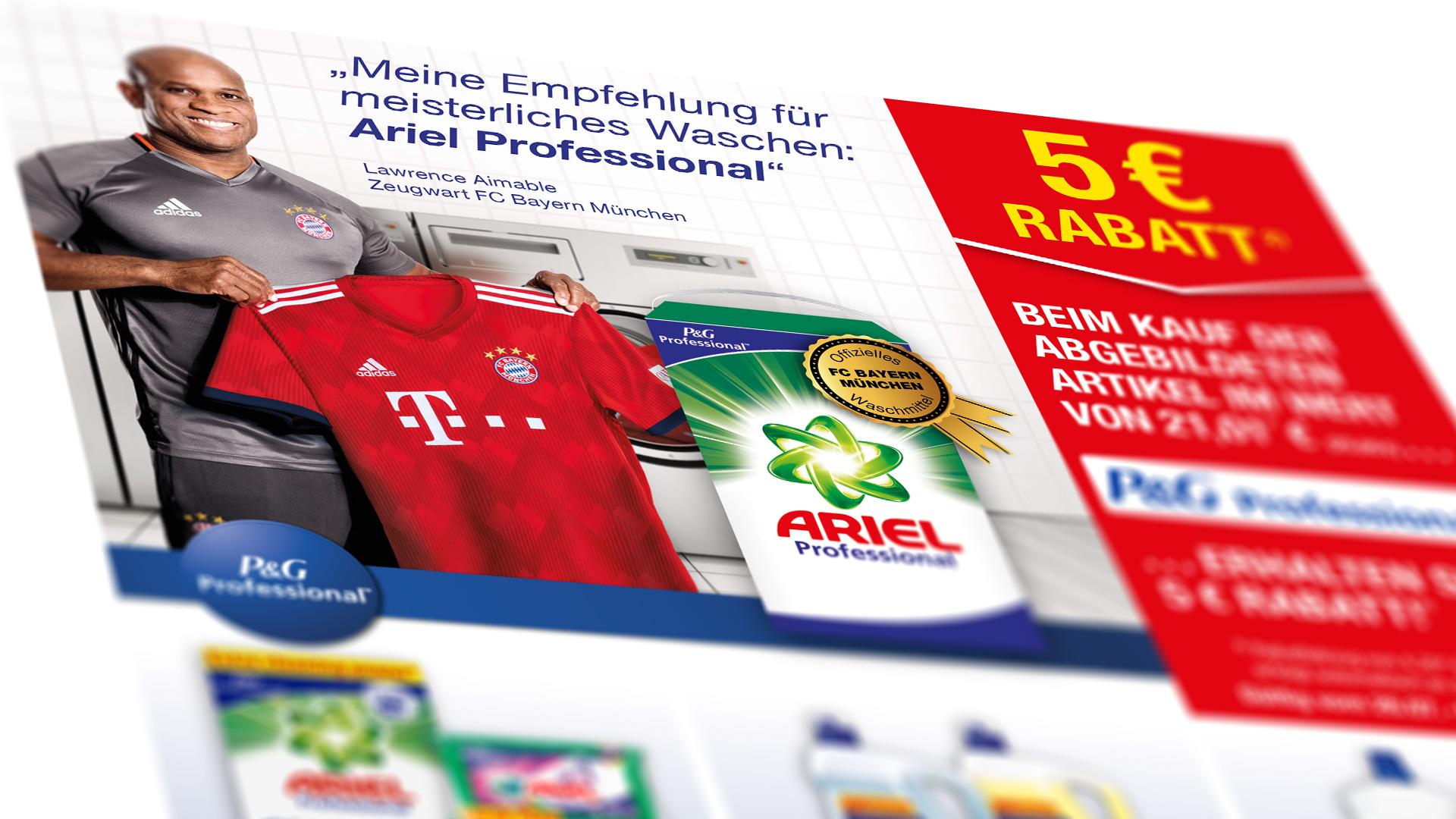 P&G Bayern München Key Visual Katalog