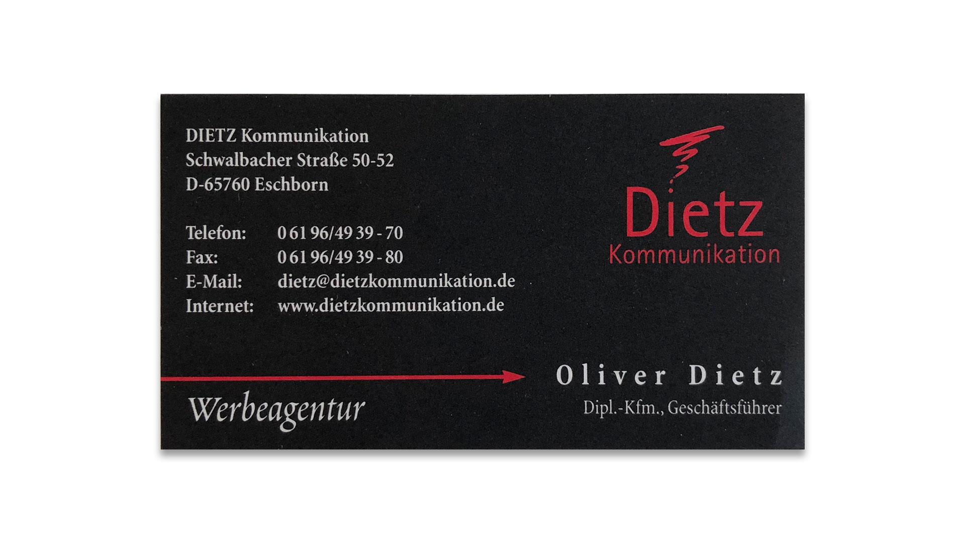 dietz Visitenkarte