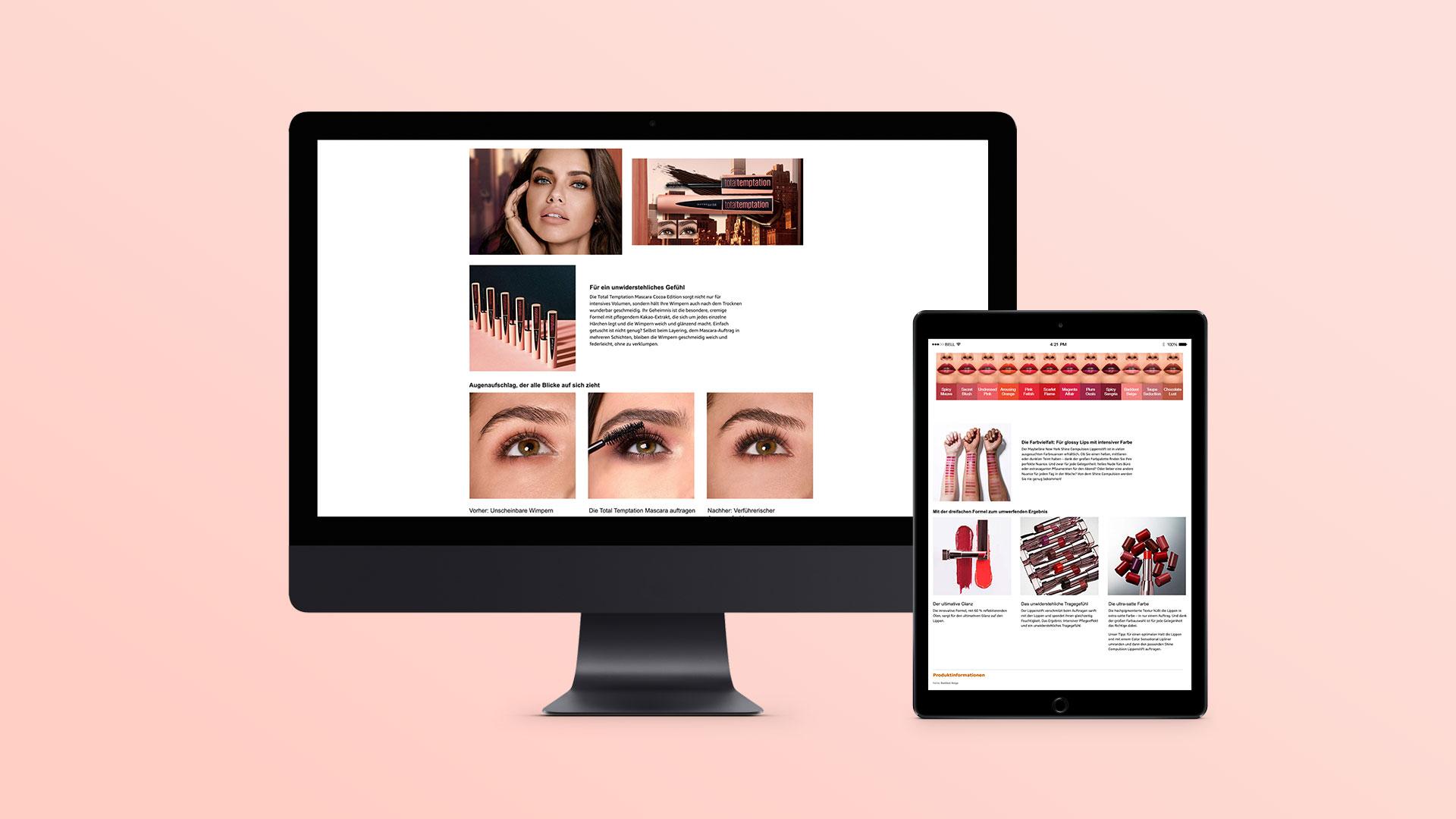 Retailer Produkt-Content für L'Oréal