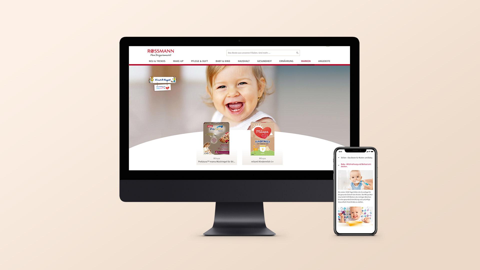 Content Marketing Agentur für Milupa