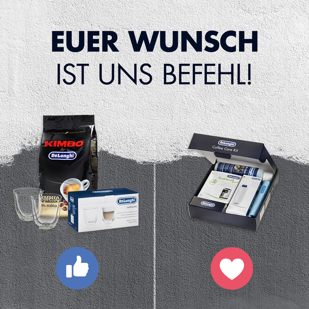 Engagement-Post für den De'Longhi-Facebook-Kanal von der Social Media Agentur dietz.digital