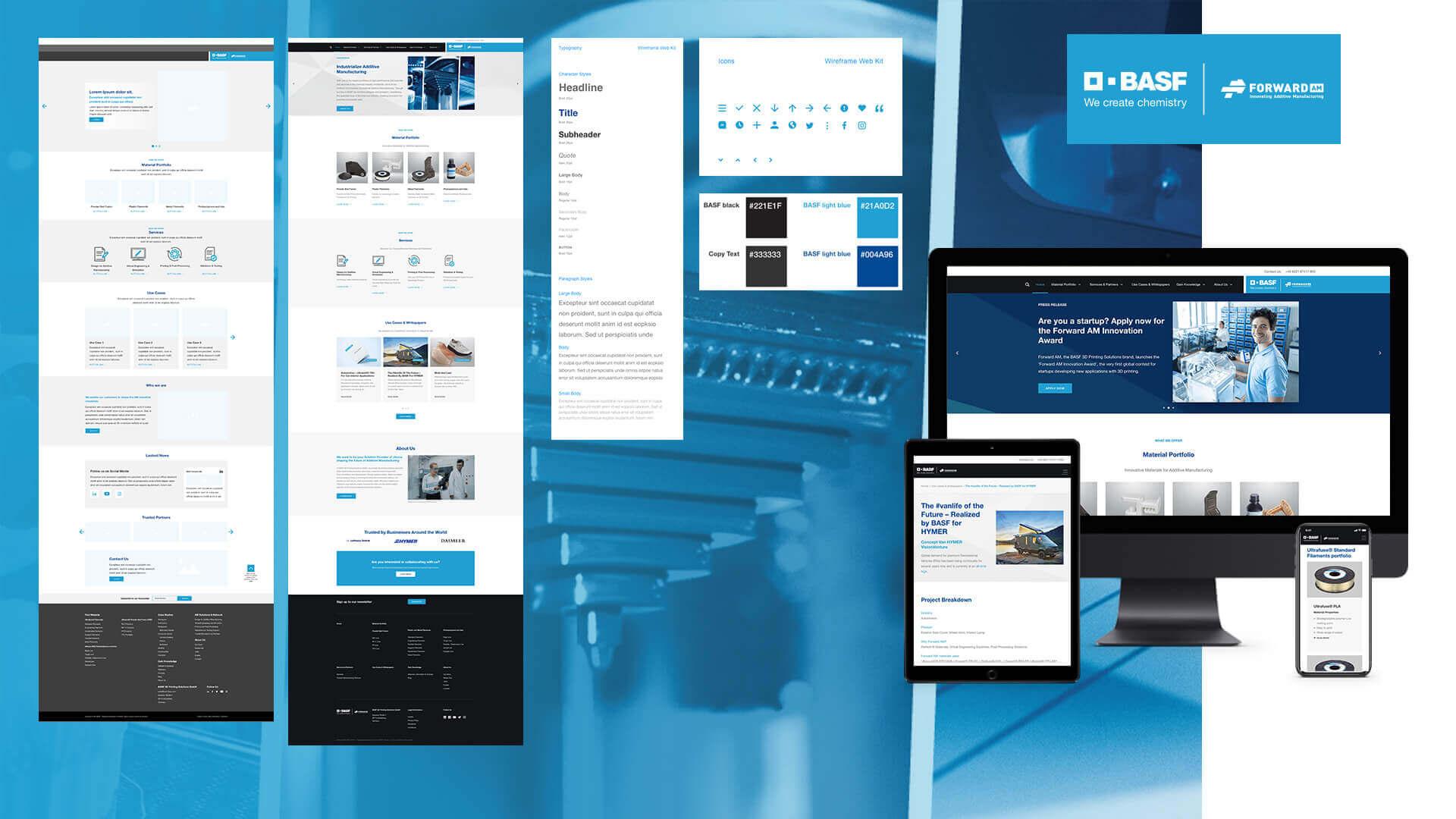 Website Relaunch für BASF Forward AM